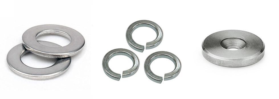 "Aluminum Flat Washers Standard Round Washer Sizes #6 to 3//4/"" 100 Pieces"